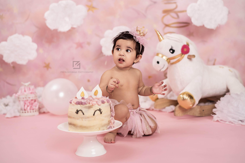 Cake Smash Photography in Delhi | Priya Goswami Photography